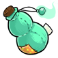 Turquoise Snow Jar Plush