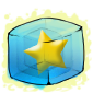Gold Star Ice Cube
