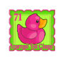 Reverse Pink Ducky Stamp