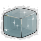 Silver Ice Cube