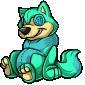 Turquoise Wulfer Plushie